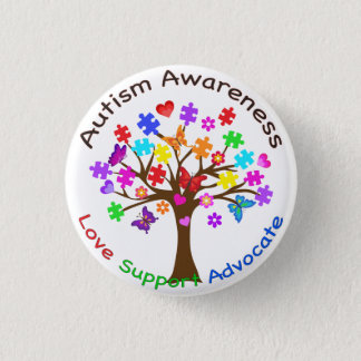 Autism Awareness Tree 1 Inch Round Button