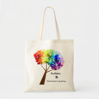 Autism Awareness Tree Bag