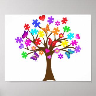 Autism Awareness Tree Poster