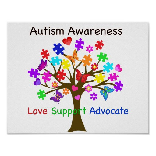 Autism Awareness Tree Poster