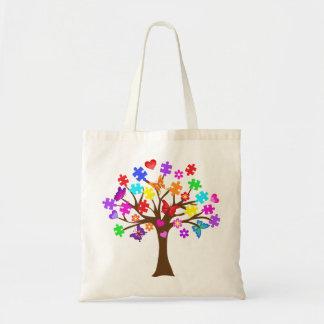Autism Awareness Tree Tote Bag