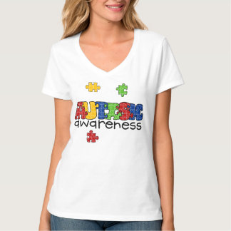 Autism Awareness V-Neck T-Shirt