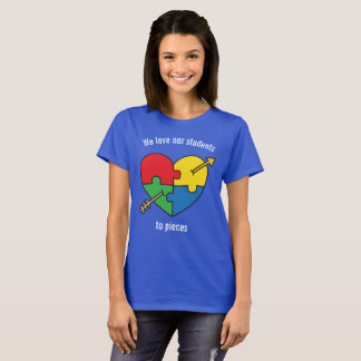 Autism Awareness Valentine's Day Puzzle Heart T-Shirt