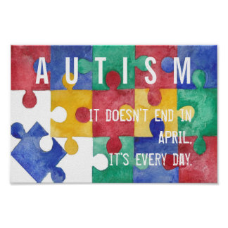 Autism Awareness watercolor poster