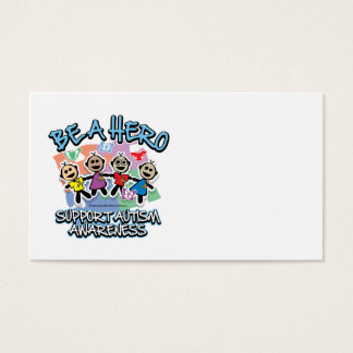 Autism Be A Hero Business Card