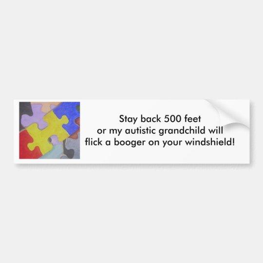 Autism booger 2 bumper sticker