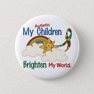 Autism BRIGHTEN MY WORLD 1 Children 2 Inch Round Button