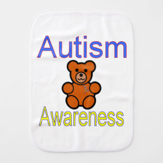 autism burp cloth