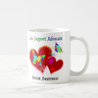 Autism Butterflies in Hearts Coffee Mug