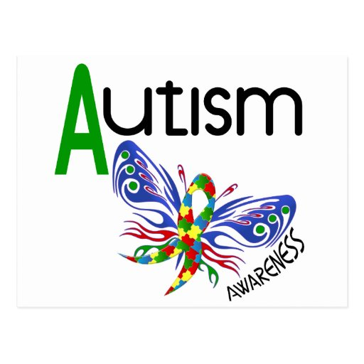 AUTISM Butterfly 3.1 Postcard