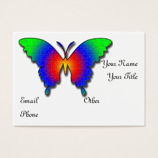 Autism butterfly business profile card template