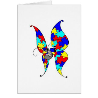 Autism Butterfly Greeting Card