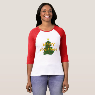 Autism Christmas Tree shirt - light