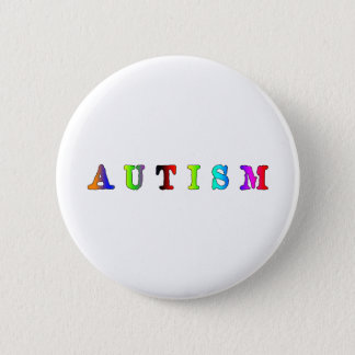 Autism Colorful 2 Inch Round Button
