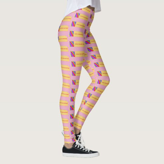 Autism Colours My Life - Art By EelKat Leggings