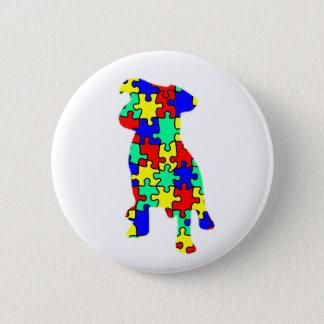 Autism Companion Dog Button