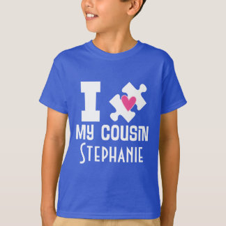 Autism Cousin Personalized Awareness T-shirt
