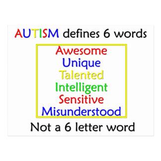 Autism Defines Postcard