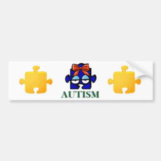 Autism Face Bumper Sticker