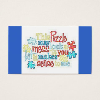 Autism Facts Business Card