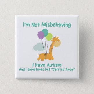 Autism Giraffe 2 Inch Square Button