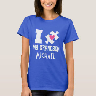 Autism Grandson Personalized Awareness T-shirt