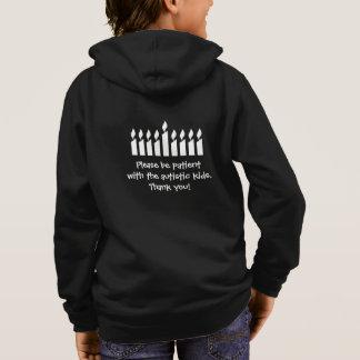Autism Hanukkah sweatshirt - dark