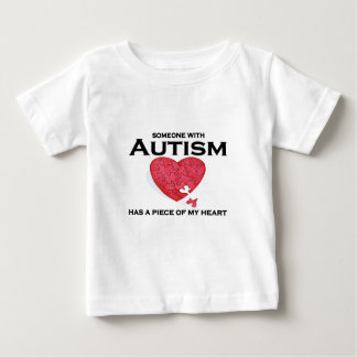 Autism has a piece of my heart baby T-Shirt