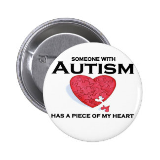 Autism has a piece of my heart buttons