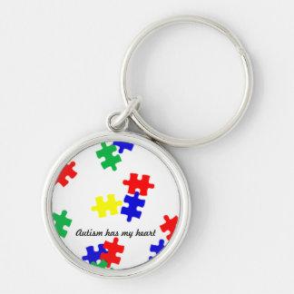 Autism has my heart....key chain keychain