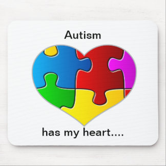 Autism has my heart mouse pad... mouse pad