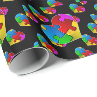 Autism Hearts Wrapping Paper