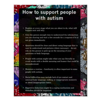 Autism How To Support Some With Autism Poster