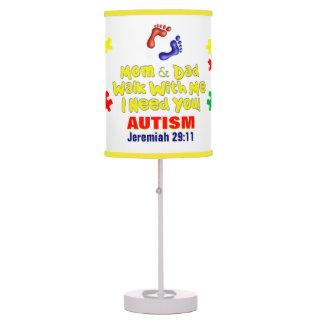 Autism I Need You Table Lamp