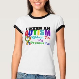 Autism I Wear Ribbon For My Precious Son T-Shirt
