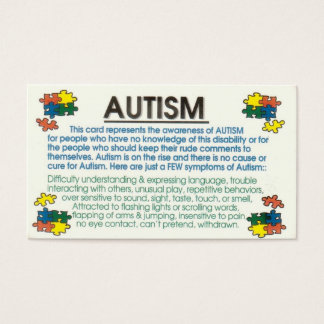 Autism Informant Business Card