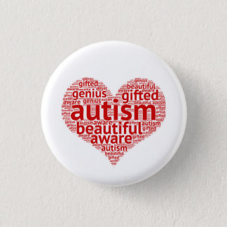 Autism Is Beautiful 1 Inch Round Button