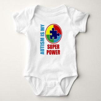 autism is my super power baby bodysuit