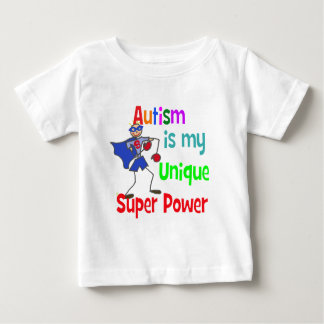 Autism is my unique super power baby T-Shirt