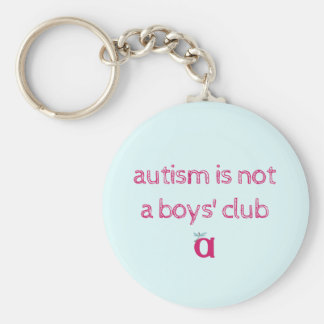 Autism is not a boys' club keychain