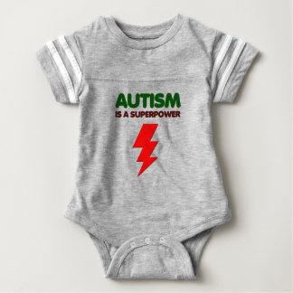 Autism is super power, children, kids, mind mental baby bodysuit