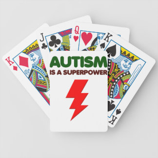 Autism is super power, children, kids, mind mental bicycle playing cards