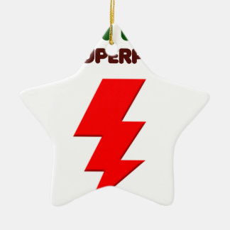 Autism is super power, children, kids, mind mental ceramic star ornament
