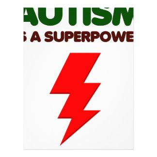 Autism is super power, children, kids, mind mental custom letterhead
