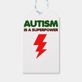 Autism is super power, children, kids, mind mental gift tags