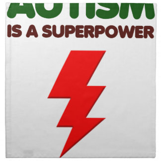 Autism is super power, children, kids, mind mental napkin