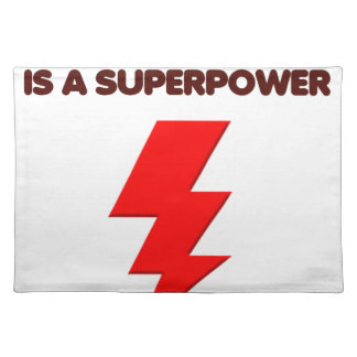 Autism is super power, children, kids, mind mental placemat