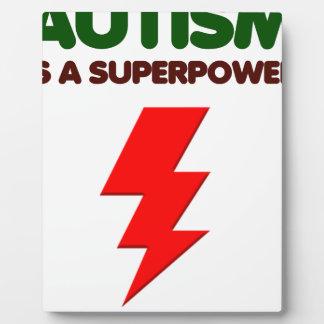 Autism is super power, children, kids, mind mental plaque