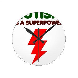Autism is super power, children, kids, mind mental round clock