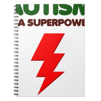 Autism is super power, children, kids, mind mental spiral notebook